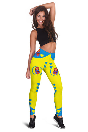 Sport-Club-Girl-01 Yellow and Blue Women's Leggings