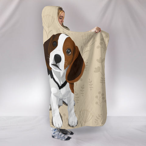 Image of I Love Beagles Hooded Blanket for Lovers of Beagle Dogs