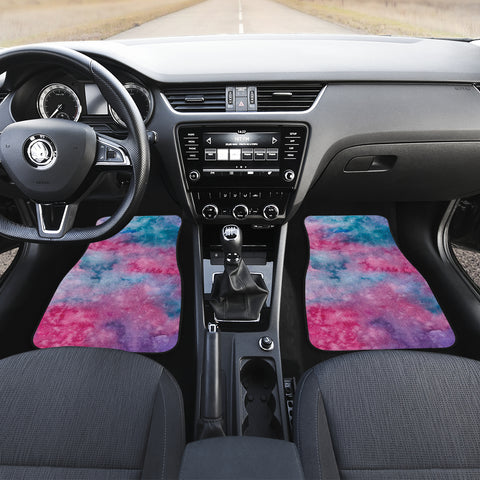 Image of Watercolor Pink Front Car Mats (Set Of 2)
