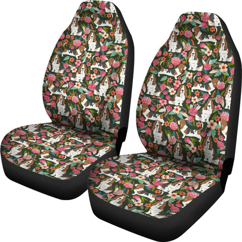 Image of Basset Hound Car Seat Covers (Set of 2)