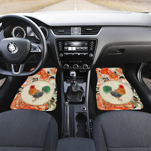 Pastel Chicken Front Car Mats (Set Of 2)
