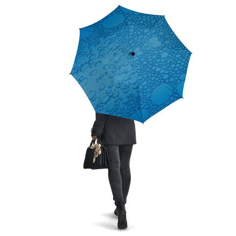 Blue Raindrops Umbrella