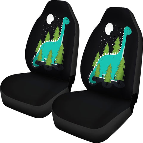 Image of Green Dinosaur Car Seat Covers