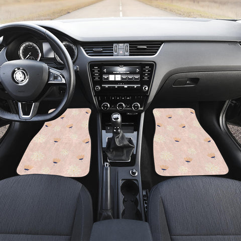 Image of Peach-Flower-03 Front Car Mats