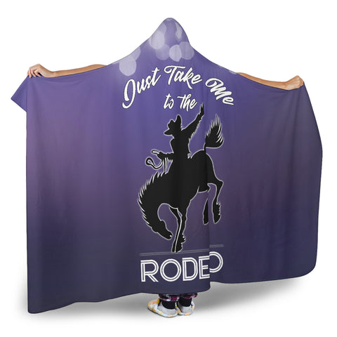 Image of Take Me To The Rodeo Hooded Blanket