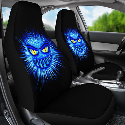 Monster Blue Car Seat Covers