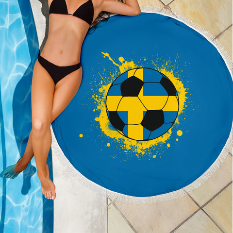 Image of Sweden Soccer Beach Blanket