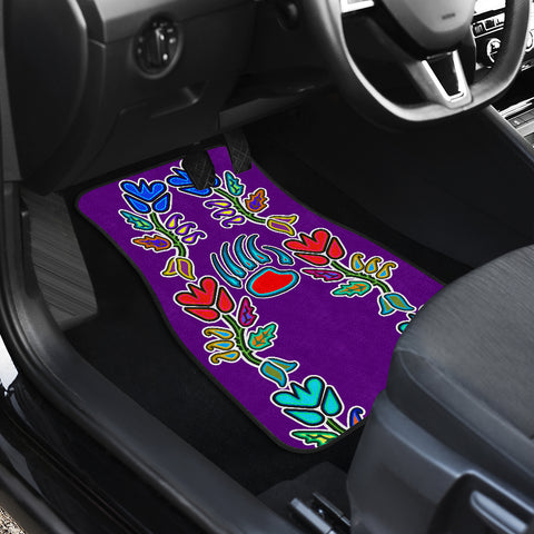 Image of Generations Floral Front And Back Car Mats (Set of 4)