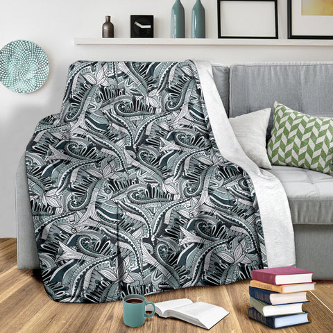 Image of Funky Patterns in Blacks - Throw Blankets