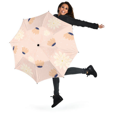 Image of Peach-Flower-03 All Over Print Umbrellas