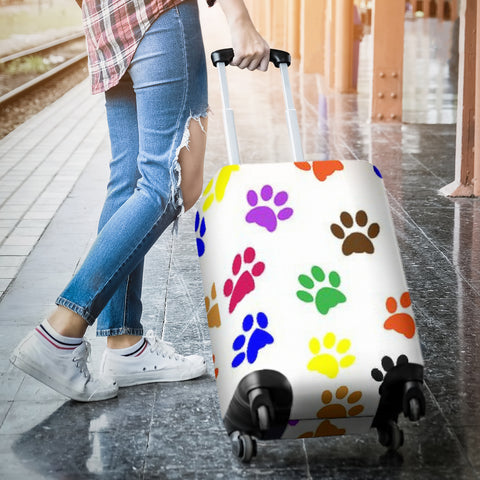 Image of Colorful Paws Luggage Cover