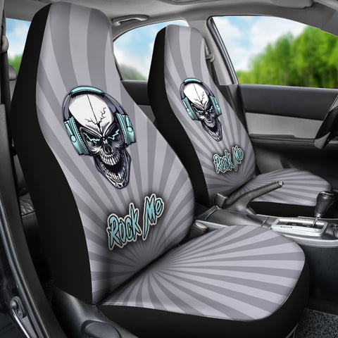 Image of Rock Me Car Seat Covers for Skull Lovers and Music Freaks
