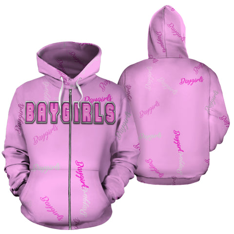 Image of Baygirls Ladies Zip Hoodie - Pink