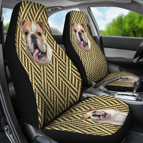 Image of Australian bulldog Car Seat Cover