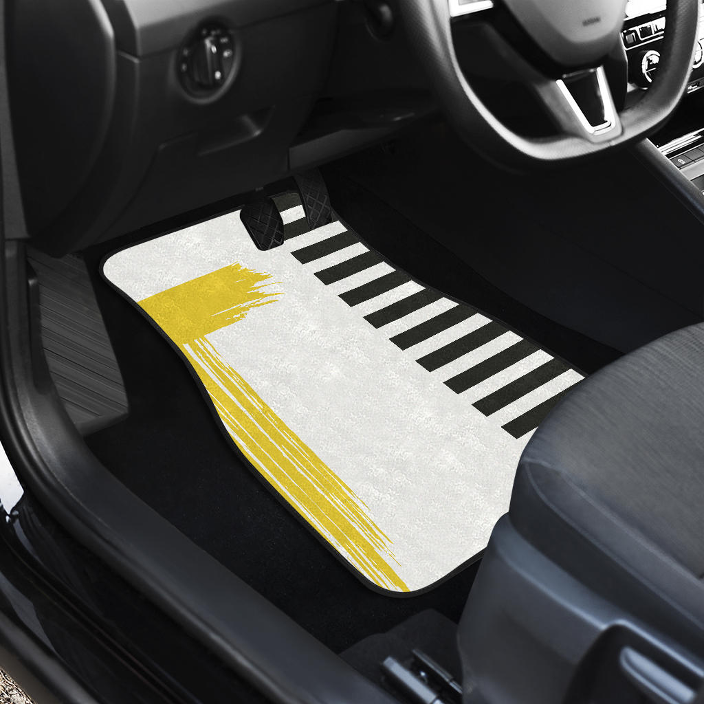 Stripes-Design-03 Front And Back Car Mats (Set of 4)
