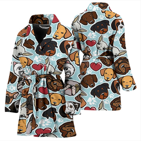 Image of Dog Lovers Women's Bath Robe