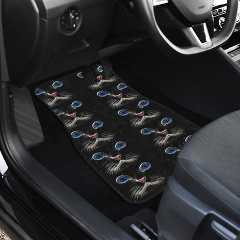 Blue eyed Cat Front And Back Car Mats (Set of 4)