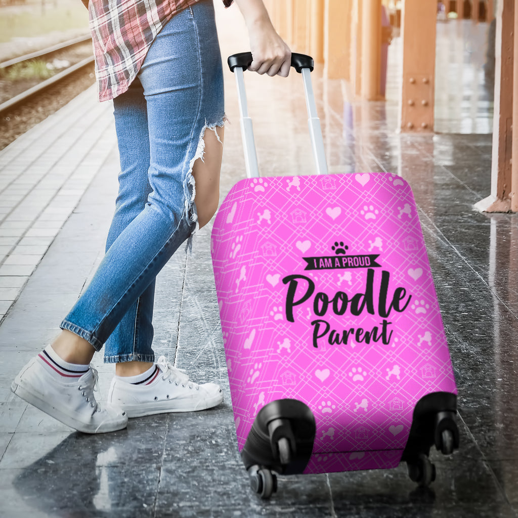 Proud Poodle Parent Luggage Cover