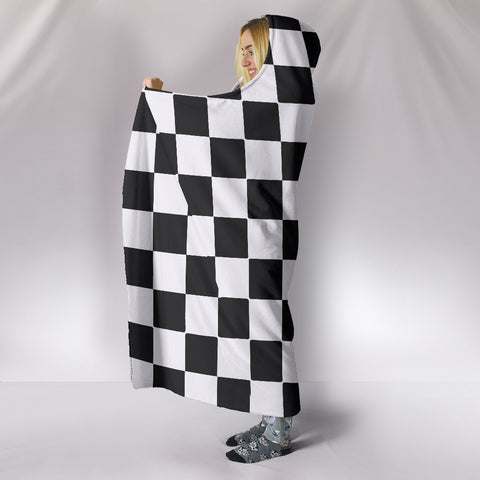 Image of Car-Stripes-Design-02 Hooded Blanket