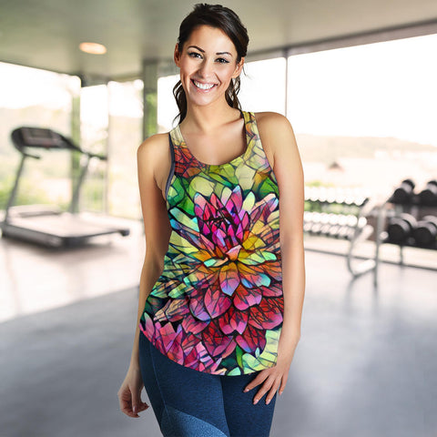 Image of Bright Flower Racerback Tank
