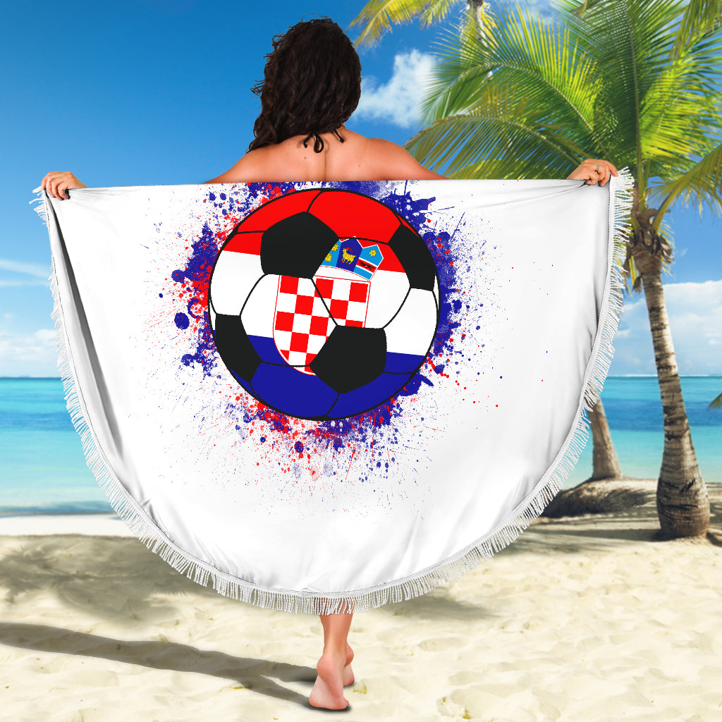 Croatia Soccer Beach Blanket