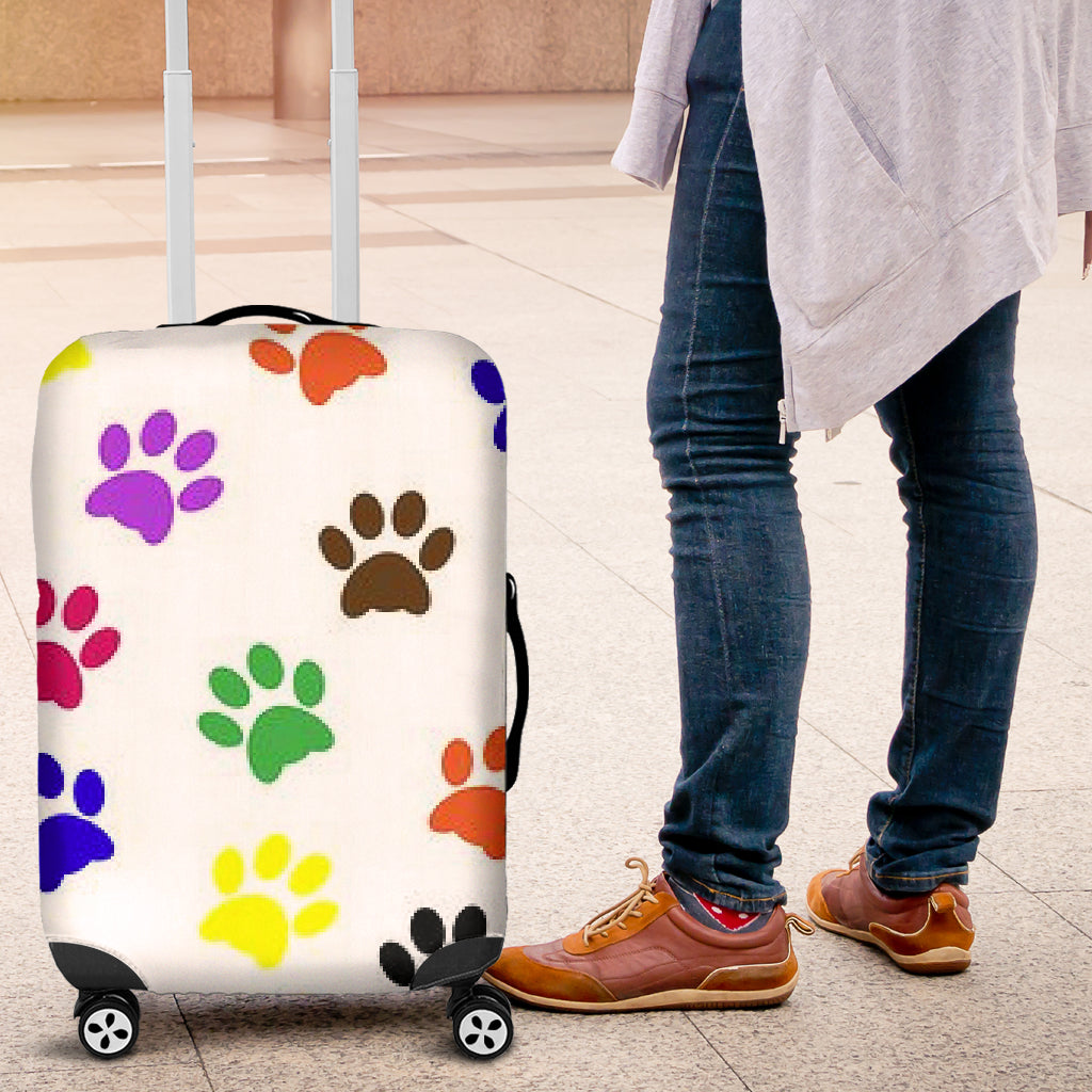 Colorful Paws Luggage Cover