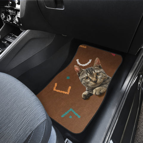 Cats eyes wide open Front And Back Car Mats (Set of 4)