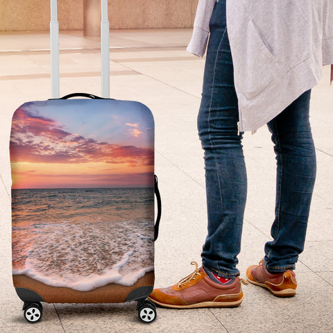 Image of Beach Sunset Luggage Cover
