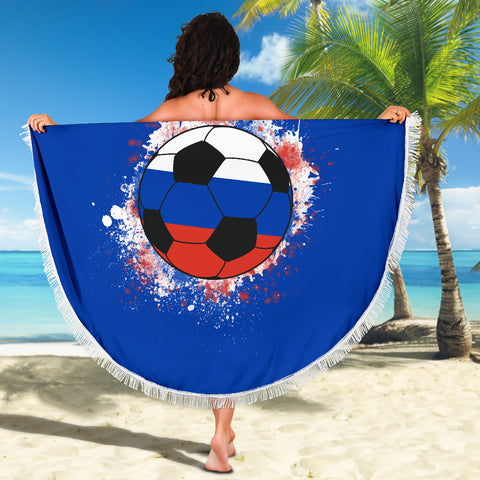 Image of Russia Soccer Beach Blanket