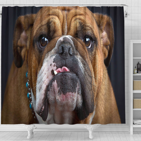 Image of Bulldog Lovers Shower Curtain