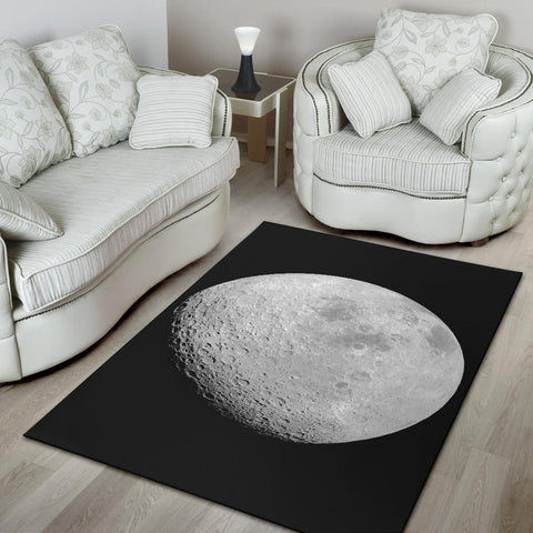 Moon From Apollo 16 Rug