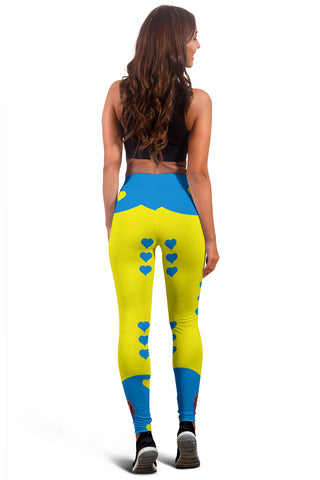 Image of Sport-Club-Girl-01 Yellow and Blue Women's Leggings