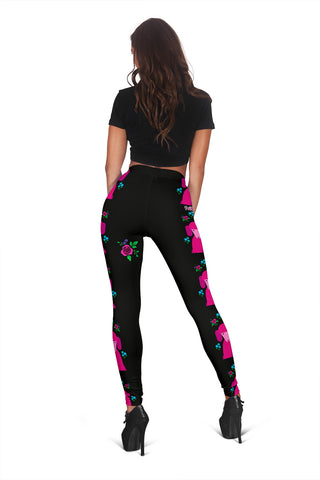 Image of Faithful Poodles Leggings for Poodle Dog Lovers