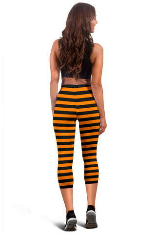 Image of Halloween Striped Capris!