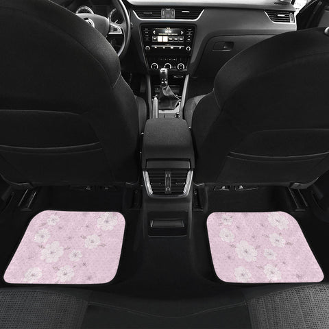 Image of Pink-Flower-02 Front And Back Car Mats