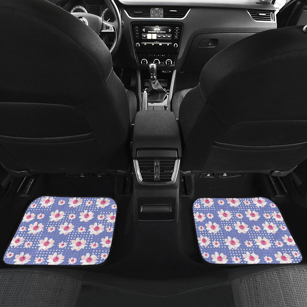 Purple-Flower-01 Front and Back Car Mats (Set of 4)