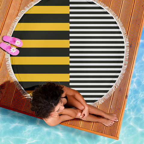 Stripes-Design-01 Beach Blanket