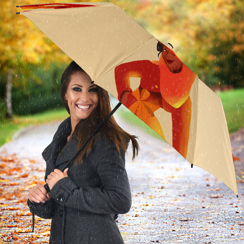 Orange-Girl-01 Umbrella