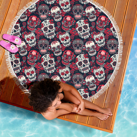 Image of Skull Lovers Beach Blanket