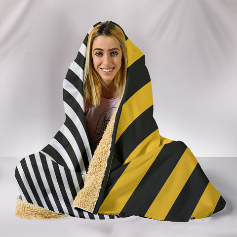 Stripes-Design-01 Hooded Blanket