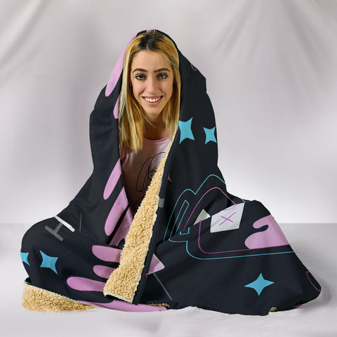 Pink-Medic Hooded Blanket
