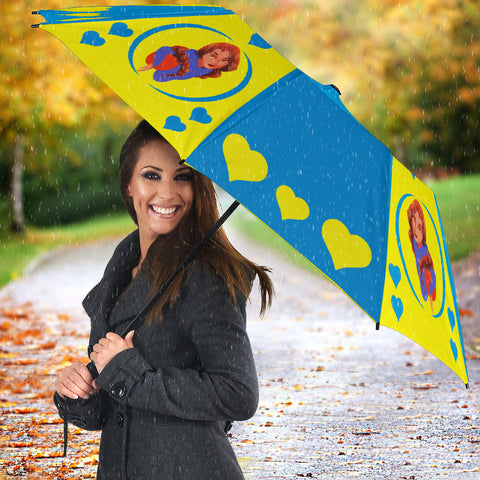 Sport-Club-Girl-01 Yellow and Blue Umbrella