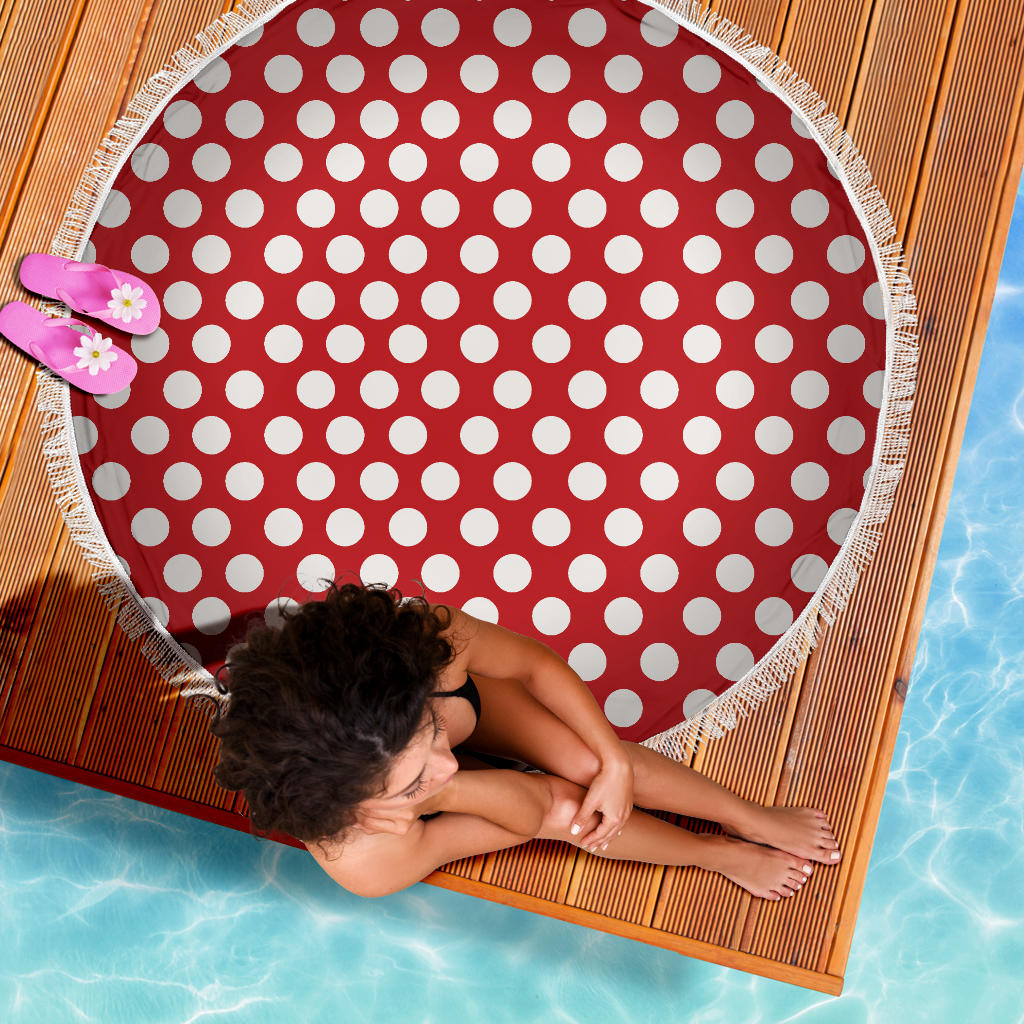 Polka-Dots-Design Beach Blanket