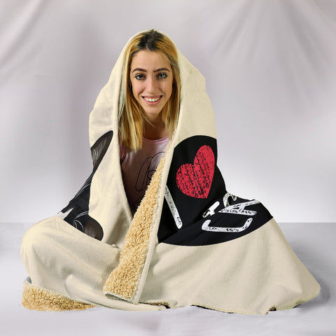 Image of I Love Cats Hooded Blanket for Cat Lovers