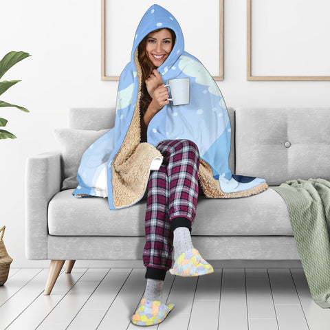 Image of Snow-Fairy-01 Hooded Blanket