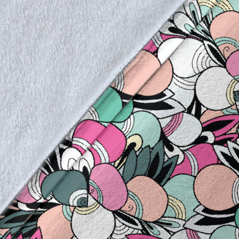 Funky Patterns in Candy - Throw Blankets