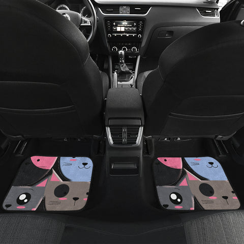 Image of Girly cat Front And Back Car Mats (Set of 4)