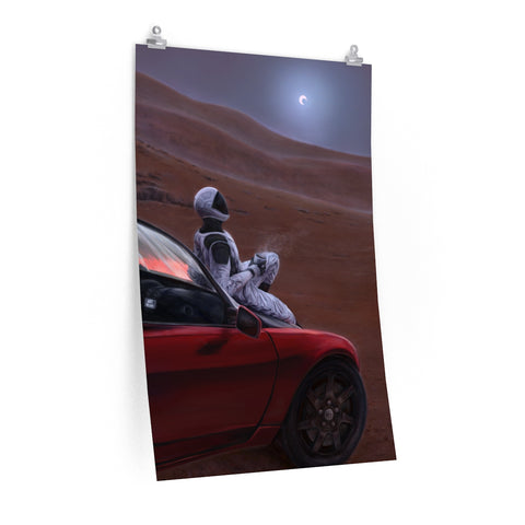 Red Car for the Red Planet - Posters
