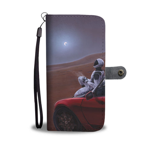 Red Car for the Red Planet - Phone Wallet