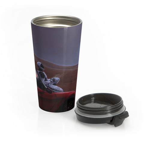 Red Car for the Red Planet - Stainless Steel Travel Mug